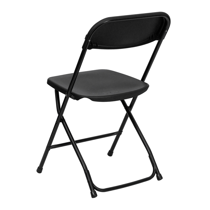 HERCULES Series 800 lb Capacity Premium Black Plastic Folding Chair LE L 3