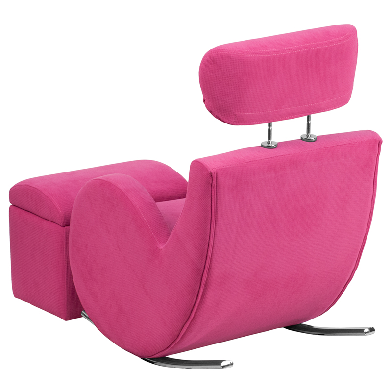 HERCULES Series Pink Fabric Rocking Chair with Storage Ottoman,  LD-2025-PK-GG by Flash Furniture | BizChair.com - HERCULES Series Pink Fabric Rocking Chair With Storage Ottoman, LD