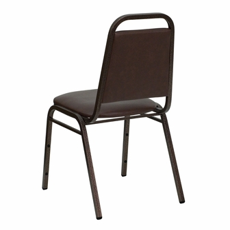 Marvelous HERCULES Series Trapezoidal Back Stacking Banquet Chair In Brown   Hercules  Banquet Chairs