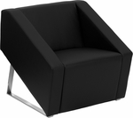 HERCULES Smart Series Black Leather Lounge Chair [ZB-SMART-BLACK-GG]