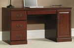 Heritage Hill 59''W x 30''H Wooden Computer Credenza with Power Strip - Classic Cherry [404944-FS-SRTA]