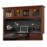 Heritage Hill 72.5''W Desk Hutch with Display Light - Classic Cherry [109871-FS-SRTA]