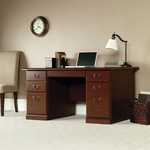 Heritage Hill 59''W x 29''H Traditional Wooden Executive Desk with Flip Down Drawer - Classic Cherry [109830-FS-SRTA]