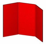 Hero Fully Upholstered 3 Panel Tabletop Display [H02-1-FS-OR]