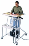 Hi-Lo Econo Stand-In Table with Electric Patient Lift - 36.5''W X 42''L X 44.5 - 54.5''H [HAU-6175-FS-HAUS]