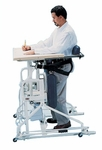Hi-Lo Stand-In Table with Electric Patient Lift - 37''W X 42''L X 42.5 - 52.5''H [HAU-6180-FS-HAUS]