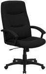 High Back Black Fabric Executive Swivel Chair with Arms [BT-134A-BK-GG]