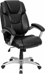 High Back Black Leather Executive Swivel Chair [GO-931H-BK-GG]