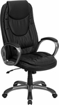 High Back Black Leather Executive Swivel Chair with Arms [CH-CX0068H04-GG]