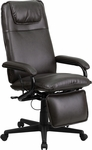 High Back Brown Leather Executive Reclining Swivel Chair with Arms [BT-70172-BN-GG]