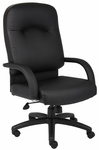 High Back Caressoft™ Executive Task Chair - Black [B7401-FS-BOSS]