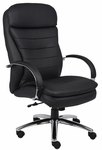 High Back CaressoftPlus&#8482 Executive Chair with Padded Arms - Black [B9221-FS-BOSS]
