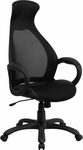 High Back Black Mesh Executive Swivel Chair with Arms [CH-CX0528H01-BK-GG]