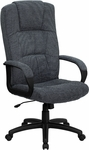 High Back Gray Fabric Executive Swivel Chair with Arms [BT-9022-BK-GG]