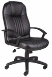Executive High Back LeatherPLUS Chair - Black [B7641-FS-BOSS]