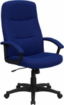 High Back Navy Blue Fabric Executive Swivel Chair with Arms [BT-134A-NVY-GG]