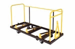 High Capacity Steel Banquet Table Truck with Steel Casters - 33''W x 79''L x 48''H [STT3072NS-MFT]