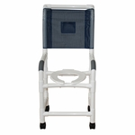 Highback Shower Chair with 3'' Rust Proof Threaded Stem Casters - 22''W X 18''D X 49''H [118-3TW-H-MJM]