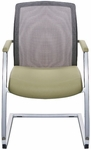 Highway Sled Base Guest Chair with Mesh Back [HW16020-FS-DV]