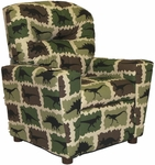 Kids Home Theatre Recliner with Cupholder [401C-FS-BZ]