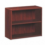 The HON Company 10700 Series Contemporary 2 Shelf Bookcase in Mahogany Finish [HON10752NN-FS-SP]