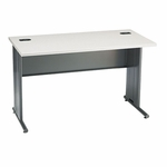 The HON Company 66000 Series Contemporary StationMaster Desk in Patterned Gray & Charcoal Finish [HON66557G2S-FS-SP]