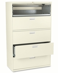 HON® 600 Series Five-Drawer Lateral File - 42w x 19-1/4d - Putty [HON695LL-FS-NAT]