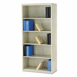 HON® 600 Series Jumbo Steel Open File - Five-Shelf - 36w x 16-3/4d x 75-7/8h - Putty [HONJ625CNL-FS-NAT]