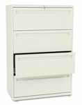 HON® 700 Series Four-Drawer Lateral File - 36w x 19-1/4d - Putty [HON784LL-FS-NAT]