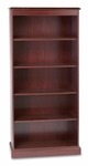 HON® 94000 Series Five-Shelf Bookcase - 35-3/4w x 14-5/16d x 78-1/4h - Mahogany [HON94225NN-FS-NAT]