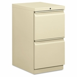 HON® Efficiencies Mobile Pedestal File w/Two File Drawers - 19-7/8d - Putty [HON33820RL-FS-NAT]