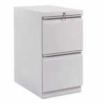 HON® Efficiencies Mobile Pedestal File w/Two File Drawers - 22-7/8d - Charcoal [HON33823RS-FS-NAT]