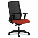 HON® Ignition Series Mesh Mid-Back Work Chair - Poppy Fabric Upholstered Seat [HONIW103CU42-FS-NAT]