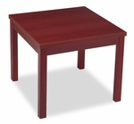 HON® Laminate Occasional Table - Square - 24w x 24d x 20h - Mahogany [HON80192NN-FS-NAT]