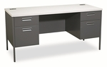 HON® Metro Series Kneespace Credenza - 60w x 24d x 29 1/2h - Gray Patterned/Charcoal [HONP3231G2S-FS-NAT]