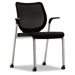 HON® Nucleus Multipurpose Chair - Black ilira-stretch M4 Back - Black Seat - Platinum [HONN606NT10T1-FS-NAT]