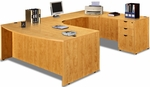 Honey Bow Front Desk U Suite [ML343-HONEY-FS-MAR]