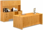 Honey Desk with Credenza and Hutch [ML346-HONEY-FS-MAR]