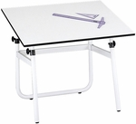 Horizon 29'' H Adjustable Height Drawing Table Base - White [3961-FS-SAF]