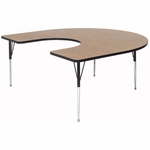 Adjustable Height Horseshoe Shaped Laminate Top Activity Table - 60''D x 66''W [A6066-HOR-CRL]