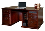 kathy ireland Home™ Huntington Collection 68.25''W x 29''H Double Pedestal Computer Desk -Vibrant Cherry [HCR685-FS-KIMF]