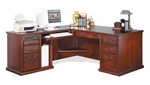 kathy ireland Home™ Huntington Collection L Shaped Workstation with Left Return -Vibrant Cherry [HCR6841L-D-HCR6841L-D-R-FS-KIMF]