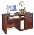 kathy ireland Home™ Huntington Collection 55.5''W x 29''H Single Pedestal Computer Desk -Vibrant Cherry [HCR5401-D-FS-KIMF]