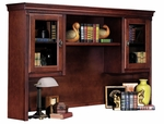 kathy ireland Home™ Huntington Collection 69.25''W x 43''H Storage Hutch with Pull out Task Light -Vibrant Cherry [HCR6821-D-FS-KIMF]