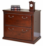 kathy ireland Home™ Huntington Collection 33.75''W x 29''H Two Drawer Lateral File -Vibrant Cherry [HCR450-FS-KIMF]
