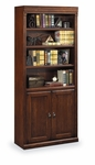 kathy ireland Home™ Huntington Collection 30''W x 72''H Bookcase with Lower Doors - Burnish [HO3072D-B-FS-KIMF]