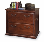 kathy ireland Home™ Huntington Collection 33.75''W x 29''H Two Drawer Lateral File - Burnish [HO450-B-FS-KIMF]