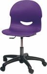 I.Q. Series Mobile Task Chair with 16''H - 20.5''H Adjustable Plastic Seat - 25''W x 25''D x 30''H - 34.5''H [266017GC-VCO]