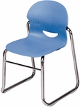 I.Q. Series Sled Base Stack Chair with 13''H Seat - 15.75''W x 15.12''D x 23.38''H [264613-VCO]