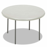 Iceberg IndestrucTables Too 1200 Series Resin Folding Table - 48 dia x 29h - Platinum [ICE65243-FS-NAT]